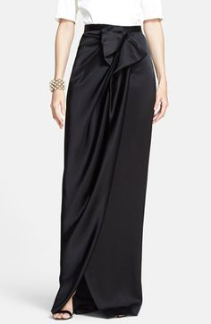 Find a St. John Collection Draped Liquid Satin Evening Skirt
