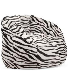 Derek Bean Bag, Quick Ship - Zebra