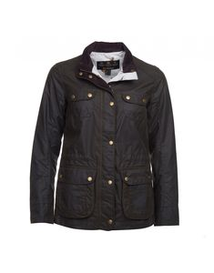 Classic in design and full of elegance and style, the Women's Broom Wax Utility Jacket by Barbour is high quality with its beautiful 100% Waxed Cotton outer, full pheasant motif lining and its smart but casual appeal, sporting the four external front pockets with antique brass style press studs.