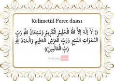 Kelimetül Ferec duası (Arapça)