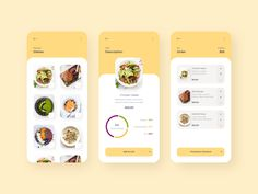 Mobile app - MyMeal designed by Olya Letunovskaya. Connect with them on Dribbble; Design Android, App Ui Design, Interface Design, Food Design, User Interface, Design Design, Website Design Layout, Web Layout, Design Layouts