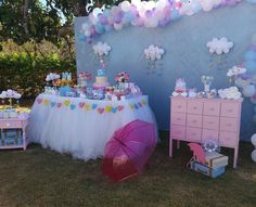 Girl Birthday Decorations, Birthday Party Themes, 2nd Birthday, Cloud Party, Little Girl Birthday, Baby Party, Baby Boy Shower, Christening, New Baby Products