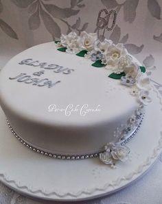 Diamond Anniversary Cake www.facebook.com/PataCakeCupcakes.Preston