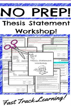 Teaching and learning thesis statement does NOT need to be difficult. Take the FAST TRACK to teaching thesis statement for argumentative essay writing with these fun, engaging and differentiated hands-on activity worksheets. Argumentative Writing, Informational Writing, Persuasive Writing, Essay Writing, Writing Resources, Writing Services, Teaching Resources, Teaching Ideas, Learning To Write