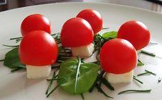 Houby ála caprése Mozzarella, Vegetables, Blog, Vegetable Recipes, Blogging, Veggies