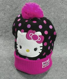 583af21dd Here kitty, kitty! Hello Kitty Girls Ladies Hat Winter knit cap beanie  toque one