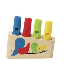 Ahşap Renkli Flüt oyuncağı Toyzzshop.com'da