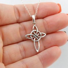 Celtic Infinity cross pendant and chain are made out of .925 sterling silver available at FashionJunkie4Life.com