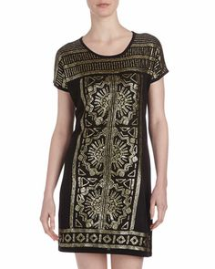 Gatsby dress Sequin-Embellished Shift Dress, Onyx by Neiman Marcus at Neiman Marcus Last Call.
