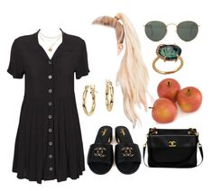 """""""18:59 pm"""" by georgia78 ❤ liked on Polyvore featuring Evil Twin, Blue Nile, GALA, Chanel and Ray-Ban"""