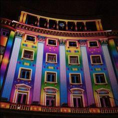 La noche Blaca de Bilbao, edificio Terminus. Bilbao 713 aniversario
