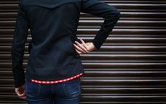 LUMO Womens Herne Hill Harrington Jacket with inbuilt, rechargeable LED lights #cycling - lumo.cc