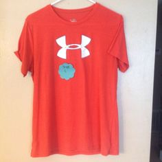 Orange Under Armour Used. Comes from a smoke free environment. They all have been washed! And they are in GREAT condition. Under Armour Tops Tees - Short Sleeve
