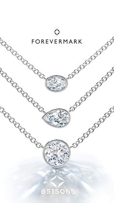 Brilliant round, pear and oval fancy shape diamonds to represent your many unique qualities, elegantly designed for layering.