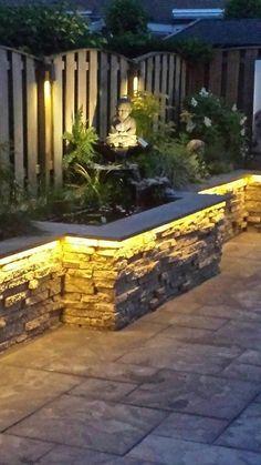 35 small backyard landscaping ideas with rocks & pool 15 Backyard Garden Design, Small Backyard Landscaping, Backyard Patio, Landscaping Ideas, Backyard Ideas, Landscaping Retaining Walls, Back Gardens, Small Gardens, Outdoor Gardens