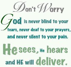 Thank you God for caring for me even when I don't understand what all is going on!