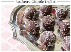 Raspberry Chipotle Truffles
