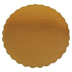 25 ct 9 Gold Scalloped Edge Cake Boards