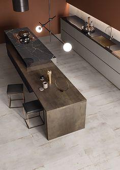 Modern Kitchen Interiors, Luxury Kitchen Design, Kitchen Room Design, Kitchen Cabinet Design, Luxury Kitchens, Home Decor Kitchen, Kitchen Living, Interior Design Kitchen, Cuisines Design