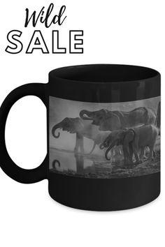 perfect animal coffee mug for gifting or enjoying. grab this unique coffee mug today Unique Coffee Mugs, Coffee Cups, Elephant, Ceramics, Animal, Tableware, Gifts, Mugs, Ceramica