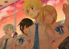 Roxas amd namine xion and idk who tha one guy is