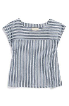 Peek 'Loni' Stripe Cotton Top (Toddler Girls, Little Girls & Big Girls) available at #Nordstrom
