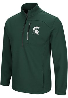 Michigan State Spartans Men/'s Jersey Style 2-tone Logo Shirt by Pro-Edge