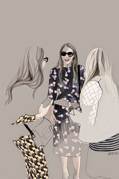 """Love the linework of Warsaw based designer and illustrator Agata Wierzbicka. """"I loves to observe people on the streets and travelers in various situations, what has the reflection in my illustrati"""