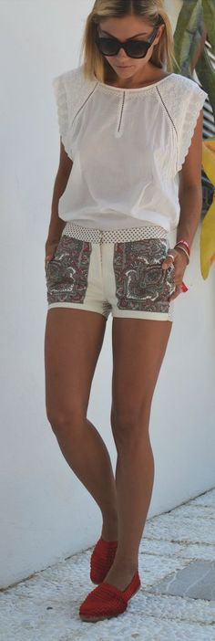 Sophisticated Graphic Print Shorts by Twin Fashion
