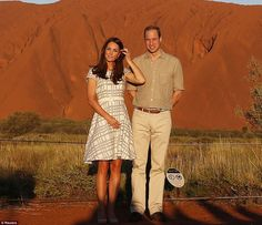 22 APRIL 2014 The Duke and Duchess of Cambridge Tour Australia and New Zealand - Day 16 Prince William and Catherine, Duchess of Cambridge visited Uluru,Ayers Rock.