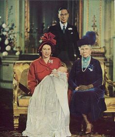 4 generations - George VI, Princess Elizabeth, Prince Charles, and Queen Mary