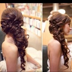 #Gorgeous side swept curls for prom Prom Perfect #2dayslook #PromPerfect #sunayildirim #anoukblokker www.2dayslook.com