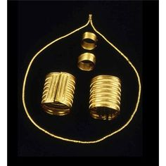 Late bronze age goldwork 1500-1000BC Co Offaly