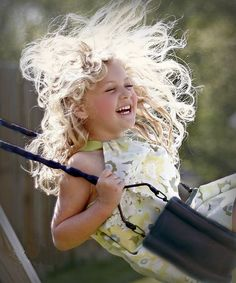 A swinging good time . . . innocent joy of childhood❤️