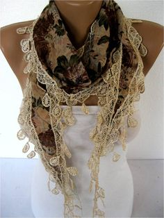 ON SALE Scarf women scarves  guipure   fashion scarf by MebaDesign, $12.90