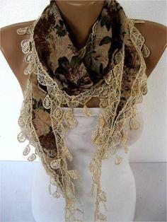 NEWScarf  Shawl-Elegant Scarf Fashion Scarf  by SmyrnaShop on Etsy