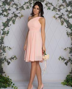 FABIA - Zwiewna midi sukienka na jedno ramie różowa Talia, Strapless Dress, Dresses, Fashion, Strapless Gown, Fashion Styles, Dress, Fashion Illustrations, Gown
