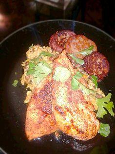 レシピとお料理がひらめくSnapDish - 13件のもぐもぐ - Coconut & Pigeon Pea Risotto, Blackened Chicken Breast with Banana & Habanero Fritters by Bryan S. Moore