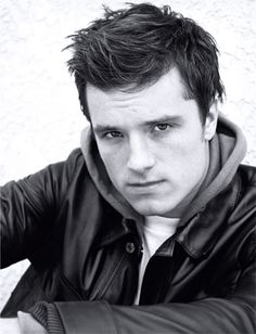 Josh Hutcherson-I don't think he's cute at all but this is one hot look/picture!