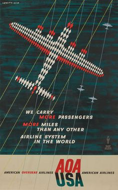 Airline American - Vintage Airline Posters
