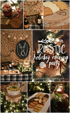 #Msg421+ Rustic Holiday Evening Party from South to Southwest Blog // This rustic party plan includes easy DIY decor, a One-Pot Pasta Rustica recipe, and plenty of wine! #HolidayPairings #ad