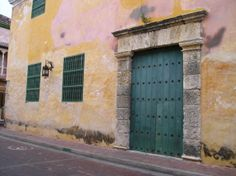 Typical door in Cartagena. More: http://bbqboy.net/travel-tips-and-photo-essay-on-incredible-cartagena-colombia/ #Cartagena #Colombia #SouthAmerica