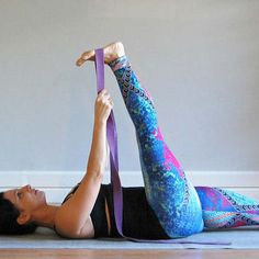 Supta Padangusthasana (Reclining Hand-to-Big-Toe Pose) http://www.prevention.com/fitness/3-safe-hamstring-stretches/slide/2