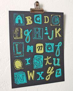 Alphabet wall art for nursery...