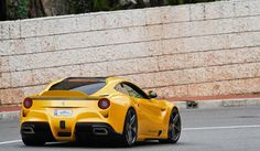 Ferrari F12 Berlinetta Giallo Acquila by Evren Milano. Follow @y_uribe for more pics.