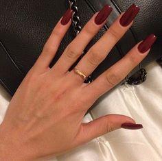 Long dark nails