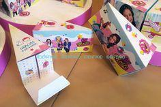 Soy Luna Torta souvenir golosinera, camino de mesa, banderines, stickers…
