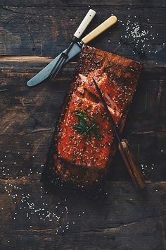 Maple syrup bbq'ed salmon - by: Samuel Joubert