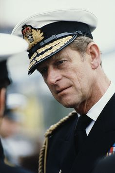 Prince Philip, Duke of Edinburgh in the uniform of the Admiral of the Fleet in Bremerhaven, Germany, May (Photo by Tim Graham/Getty Images) Cousins, Admiral Of The Fleet, Elisabeth Ii, Royal Guard, Prince Phillip, Windsor Castle, Royal Navy, Queen Elizabeth Ii, Prince Charming