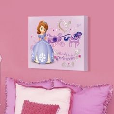 "Disney Sofia the First ""Ready to be a Princess"" 16'' x 20'' Canvas Wall Art"